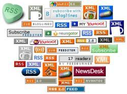 Alguns logos de subscripció RSS
